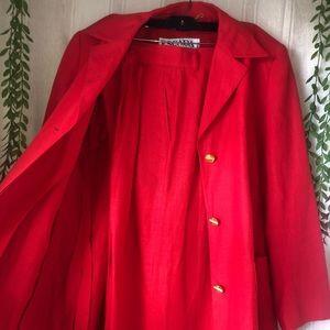 ESCADA Pant Suit Set Valentine Red 100% Linen